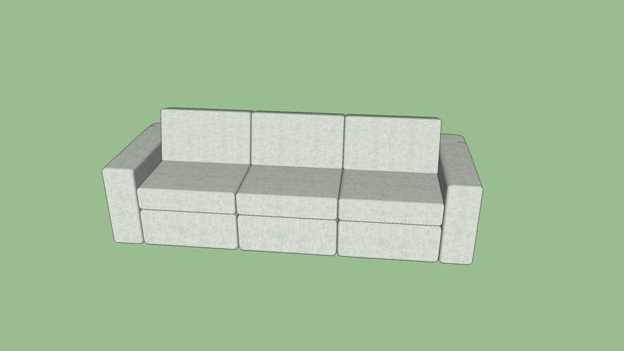 Sofá moderno 3 lugares