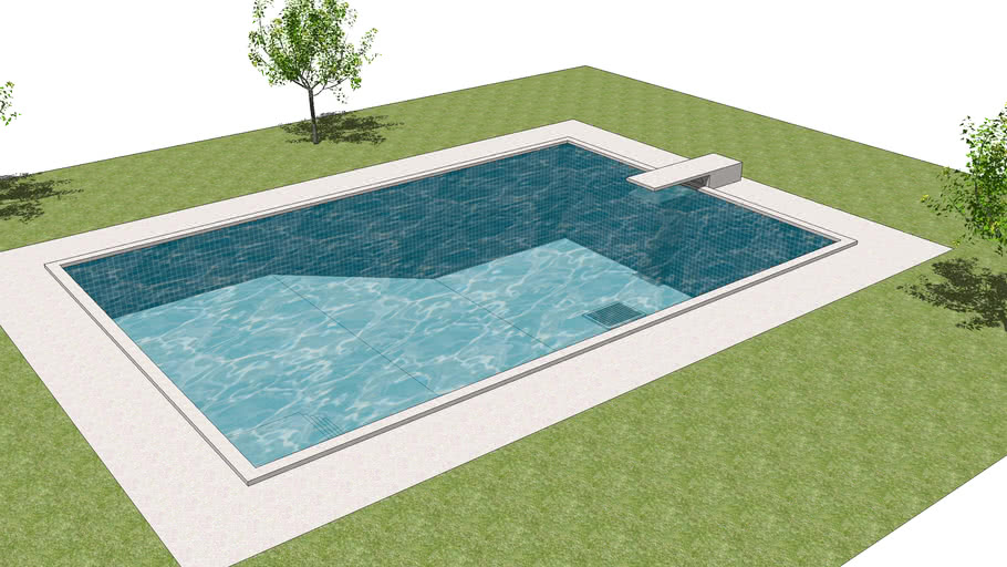 In Ground Swimming Pool 3d Warehouse