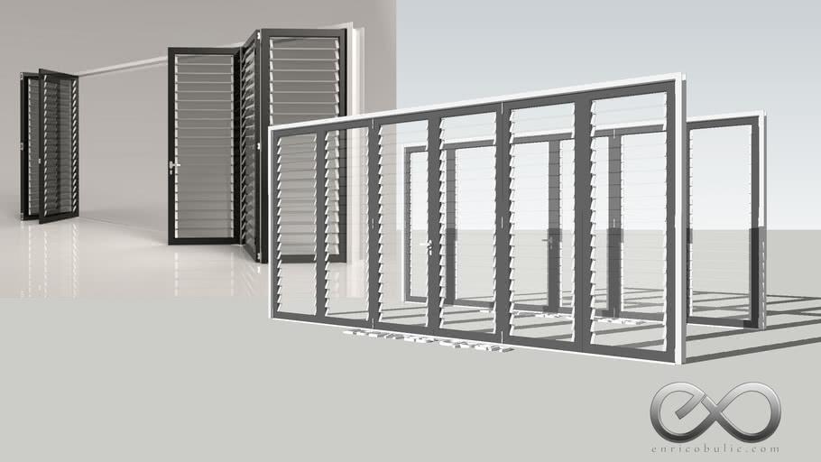 Folding Louvred Door 2x3 - Closed