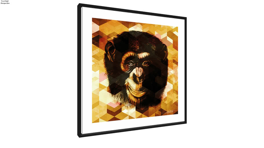 Quadro Monkey Gold Q