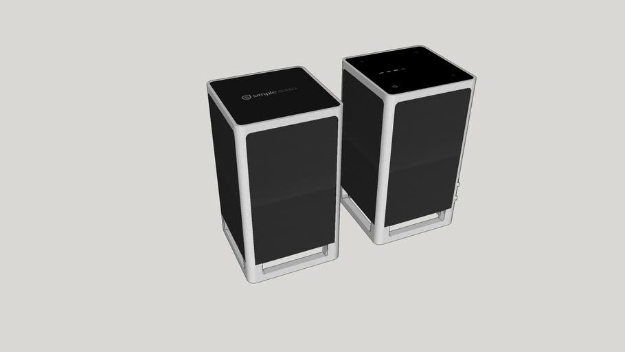 Simple Audio Listen Desktop Stereo Speakers