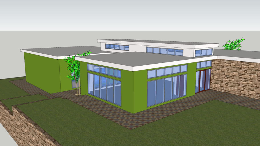 Flat Roof 3d Warehouse