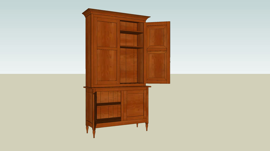 Shaker Stepback Cupboard from Popular Woodworking Magazine February 2009
