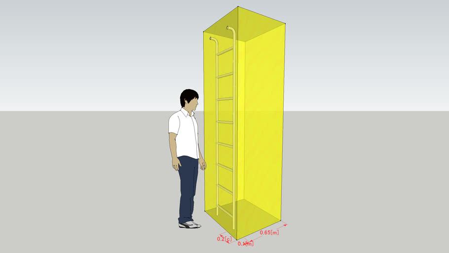 避難梯子降下空間