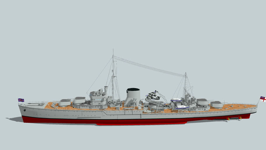 HMS Ajax(1939British) light cruiser new version