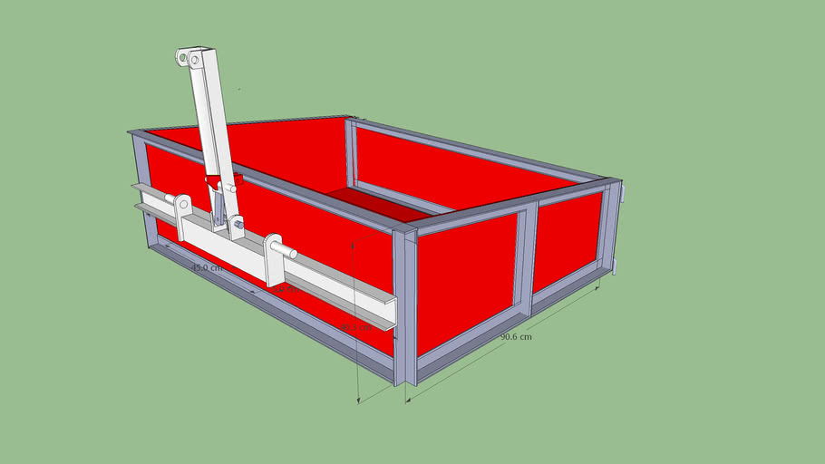Transport box for farming tractor