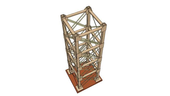 Diy 2 Cardboard Tower V1 1 3d Warehouse