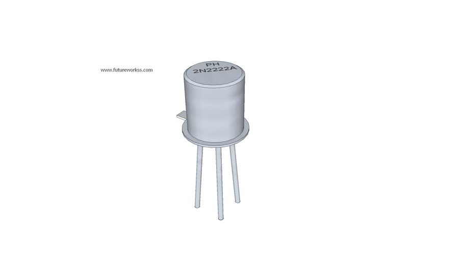 Transistor 2N2222 para circuito impreso