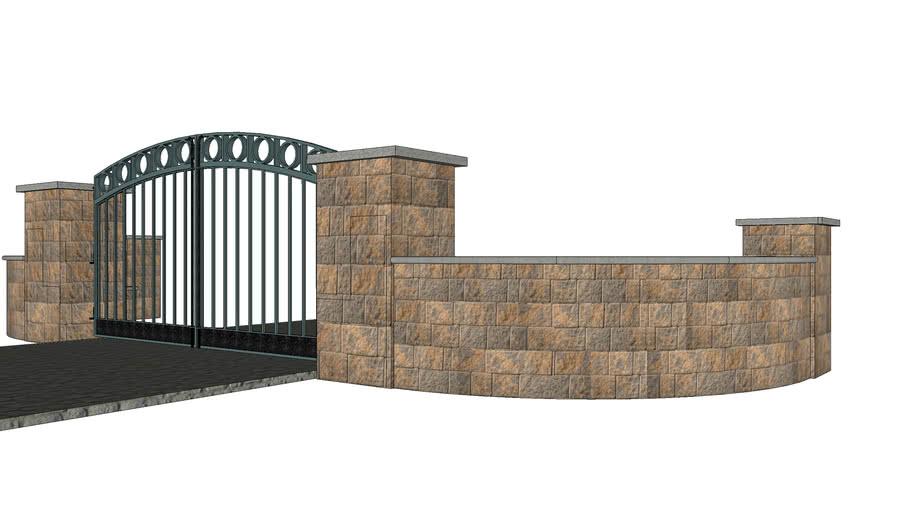 Cambridge Maytrx Half Circle Gate Entrance.