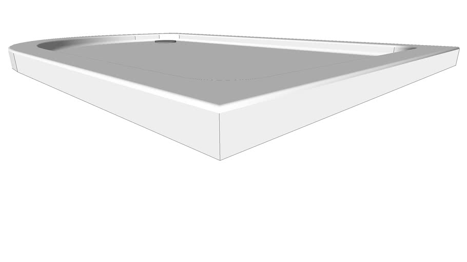 iFlo Offset Quad Shower Tray 1200 x 800 mm Left Hand 471826