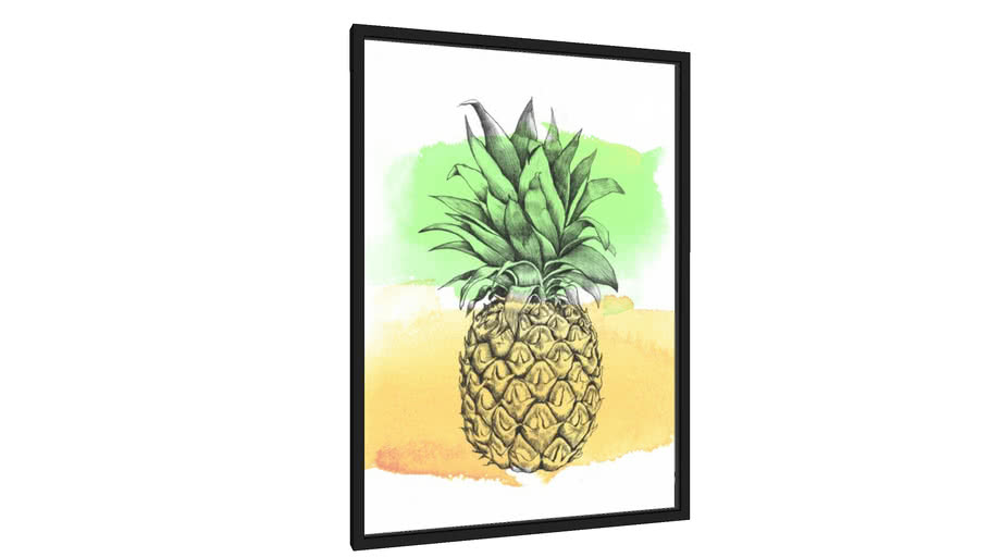 Quadro Abacaxi ilustrado - Galeria9, por Vitor Costa