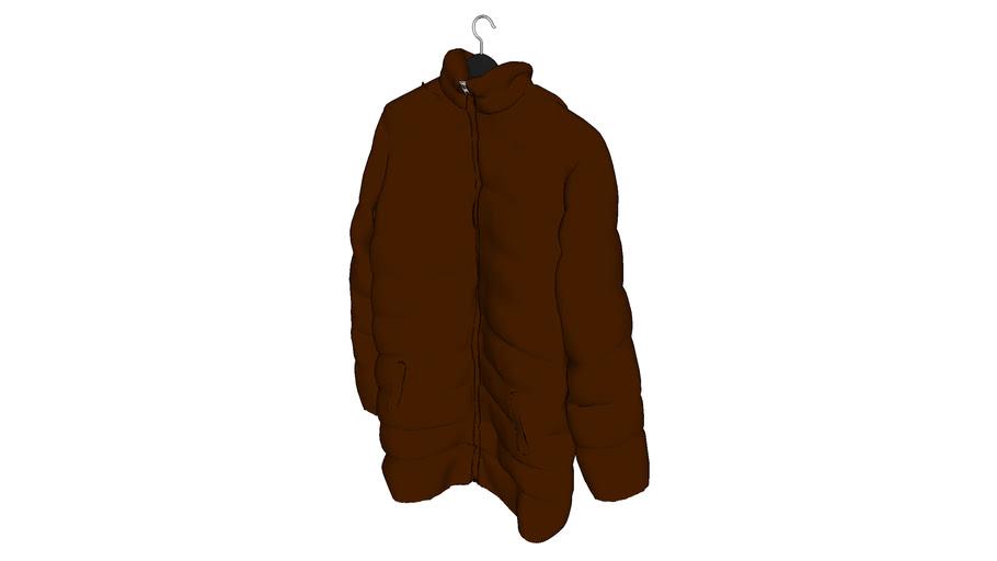 Ubranie - wiszące - kurtka puchowa - brązowa