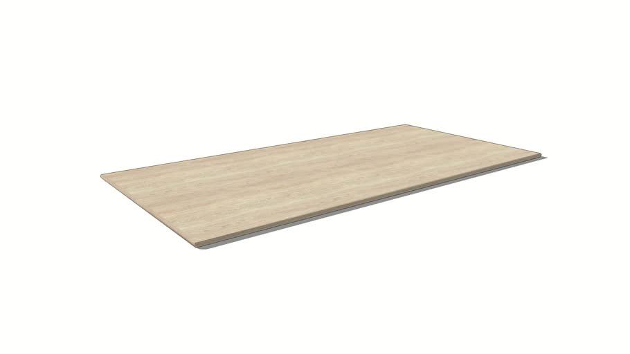 Blad 5033 - Main rond blad 2,7 cm dik 40 graden schuin
