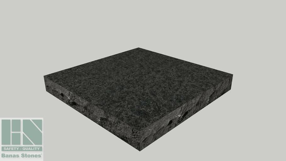 "Banas® Stones Natural Pier Caps - 24"" x 24"" - Jet Black"
