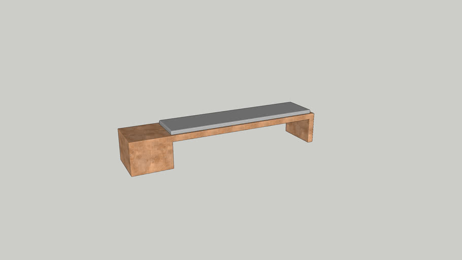 Offset cube bench by Videre Licet