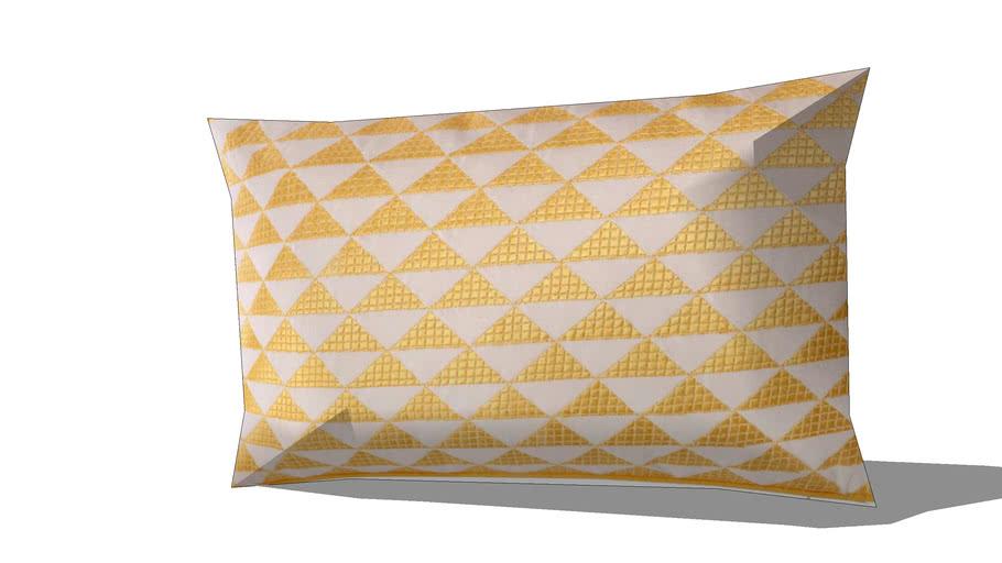 Coussin en coton jaune 30 x 50 cm MIX REF 156708 PRIX 19.99€