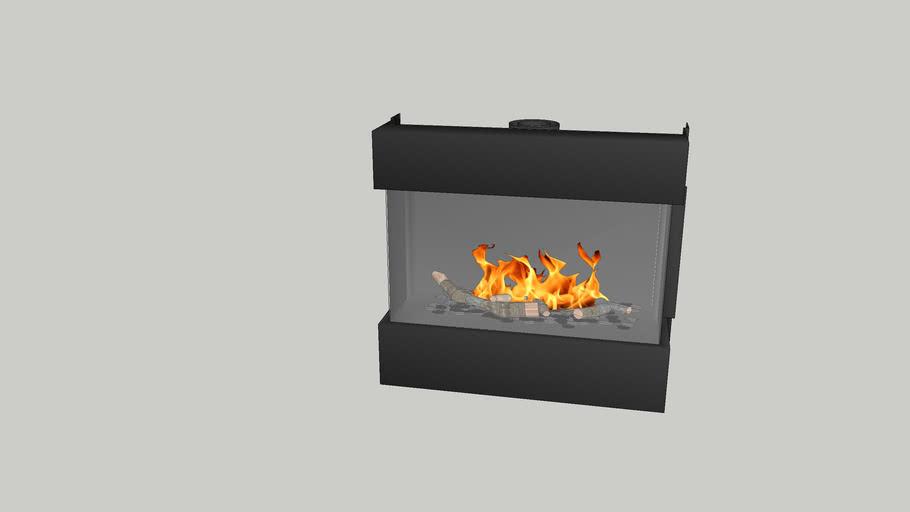 Barbas Gas Fire Panorama 110-55 frameless