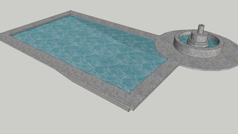 Pool with a Fountain
