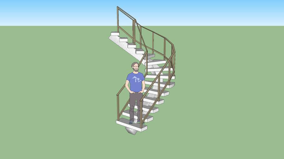 Escalera en avion, stair, ladder in plane