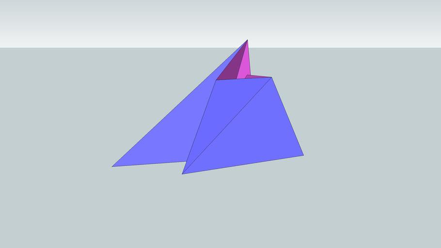Forma racional I (azul sobre rosa)
