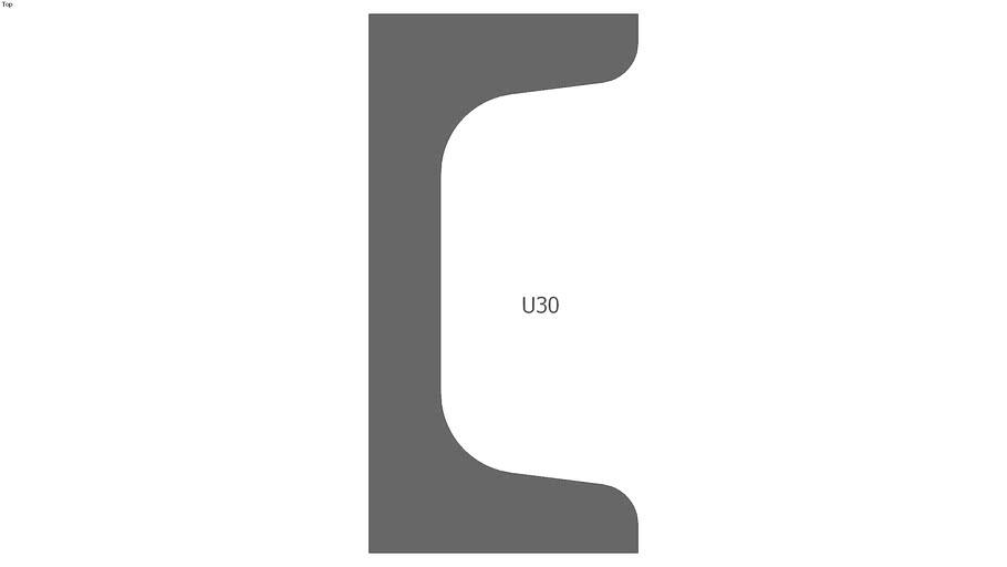 U30 Stahlprofil / Steel Profile