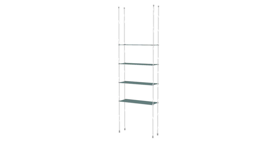 Tube - CTF - 4 Glass Shelves Base Unit