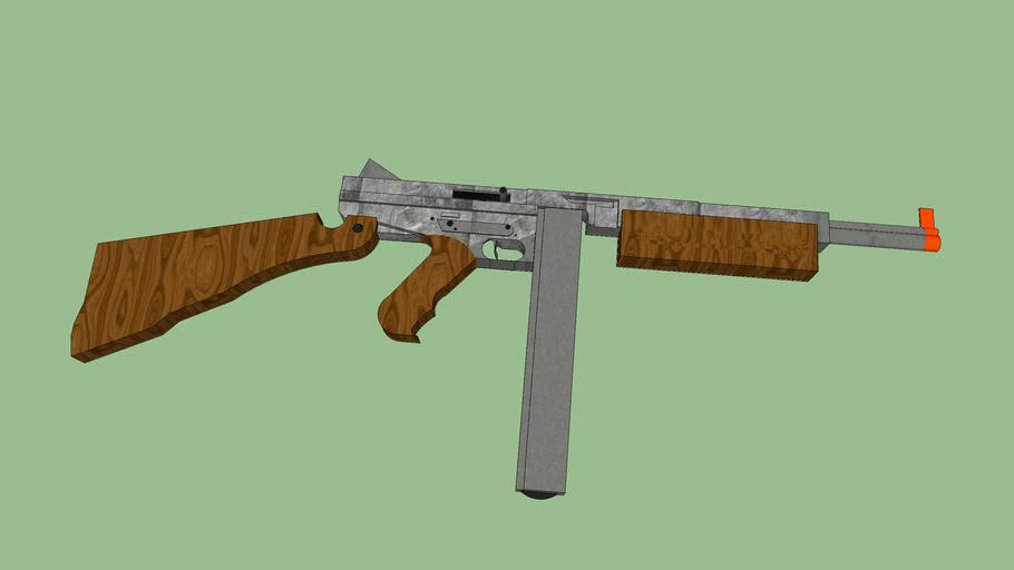 Thompson SMG M4A1 BB GUN / Airsoft gun!