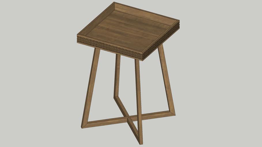 Nightstand SIde table Boho Retreat L460 x l460 x H665mm