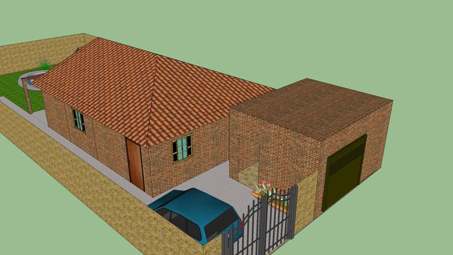 Modelo de uma casa com um ambiente simples