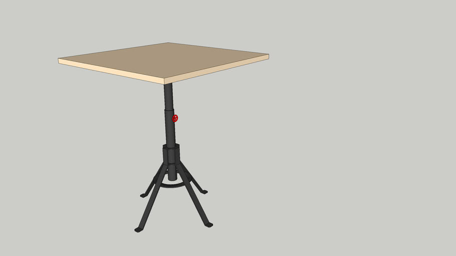 spoinq table Fuego/ Wessel 90x90 cm.