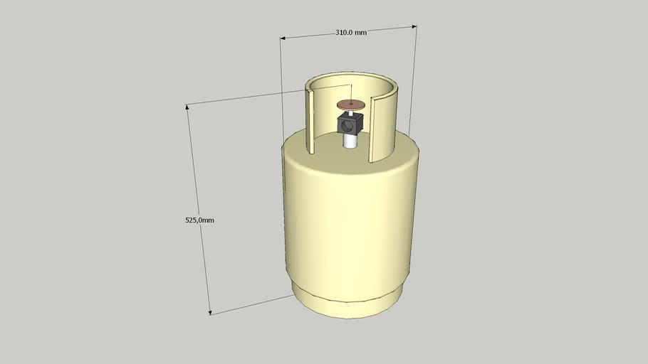 GAS - Garrafa 10 Kg / Gas embasado 10 Kg