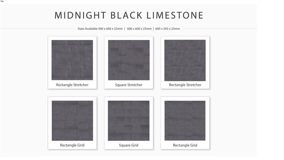 Midnight Black Limestone