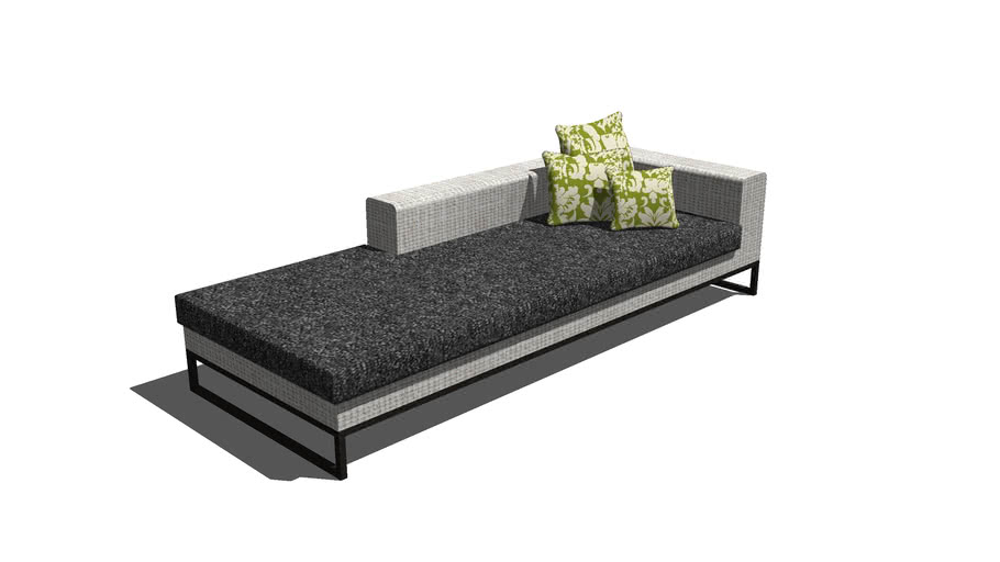 Day Bed Cot Bedroom Pillow Sofa Seating