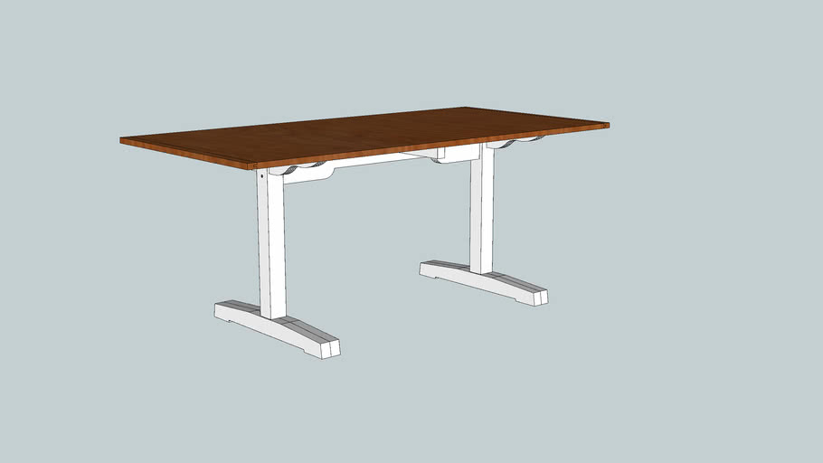Shaker Trestle Table from Woodworking Magazine Issue 6