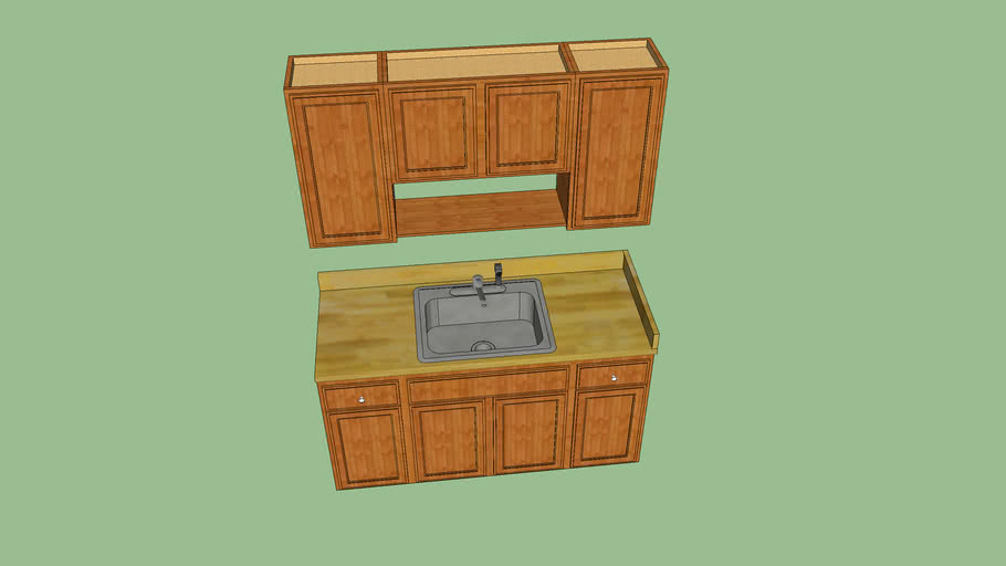 Small Kitchen Cabinets Sink Ua Plumbers Local 159 3d Warehouse
