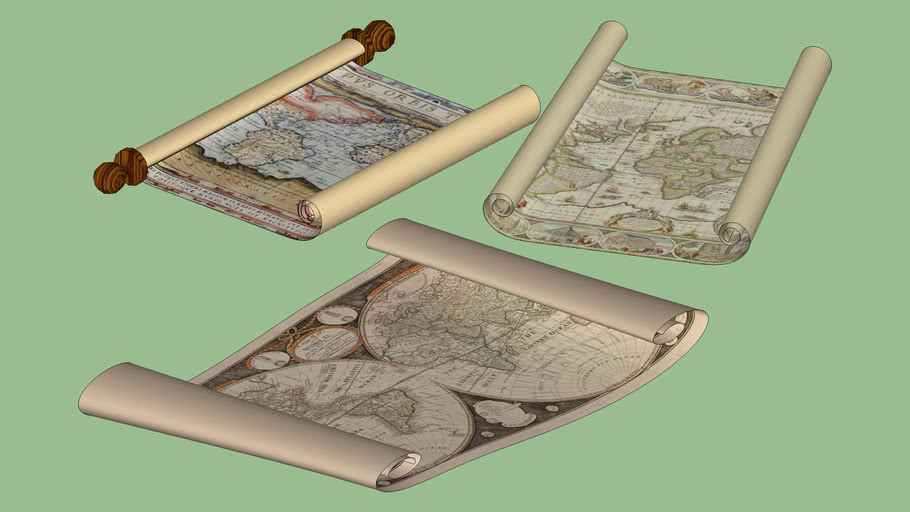 Old Rolled Maps