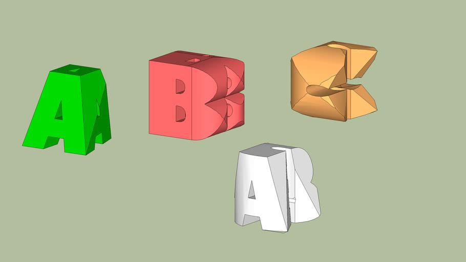 3 Lettere cubitali