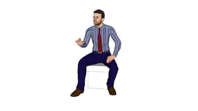 homem sentado