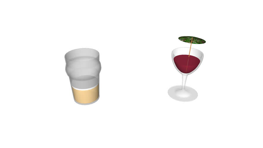 beer and wine glass
