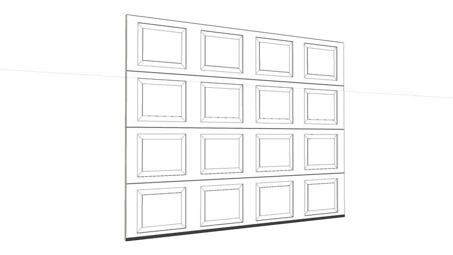 4 panel 9' garage door
