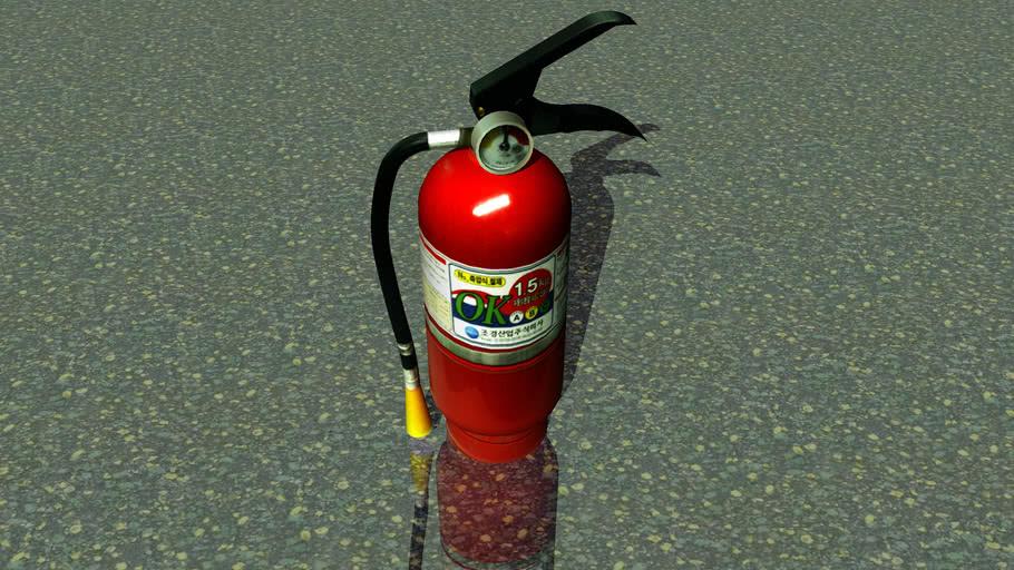3D fire extinguisher