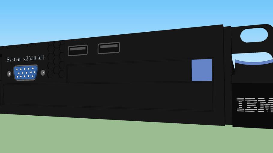 Ibm System X3550 M4 Rackmount 2u Server 3d Warehouse