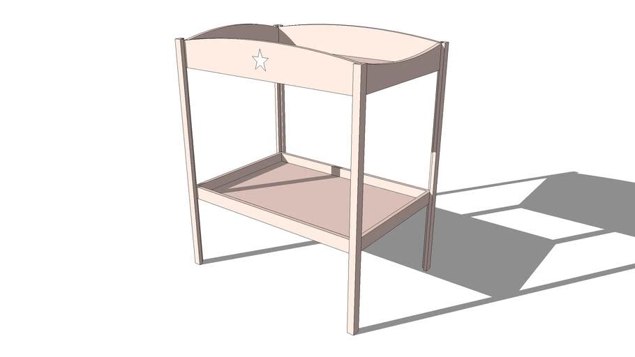 Table à langer rose PASTEL, Maisons du monde. Réf: 143445, prix : 99,99 €