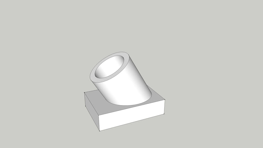 30 Degree Angle 3/4 Inch PVC Fitting