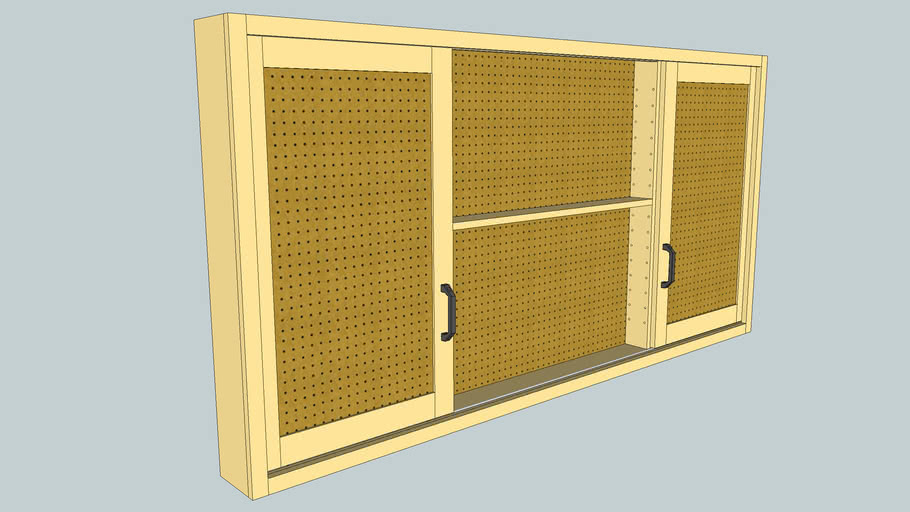 Sliding-door shop cabinet