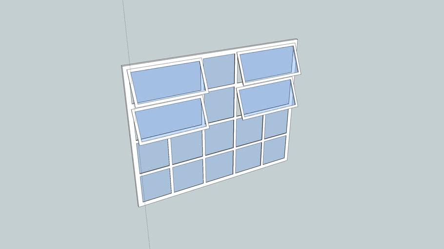Ventana cuadricular 1.50 x 1.20 mts