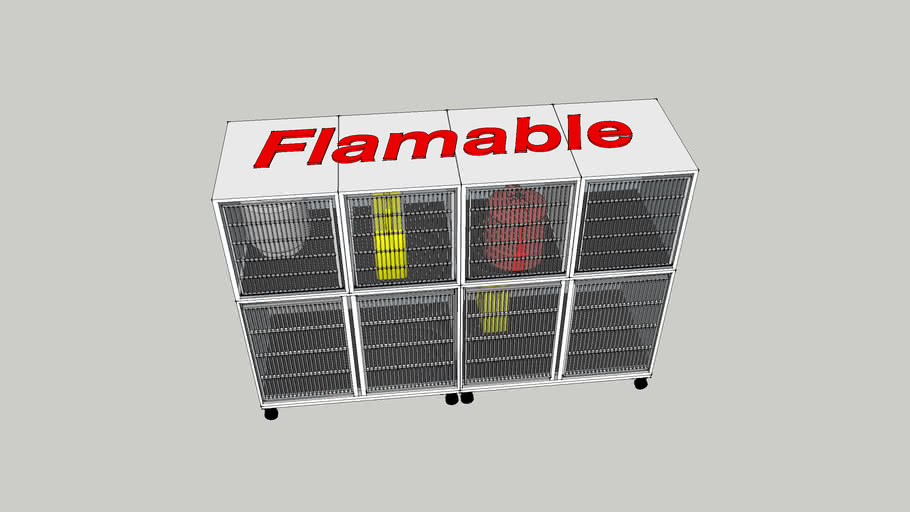 Flamables cage