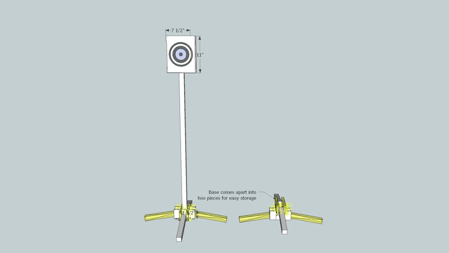 Small Pistol Target Stand