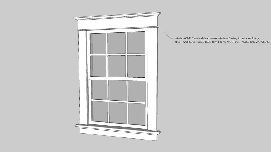 Windsorone Classical Craftsman Moldings Window Casing 3d Warehouse