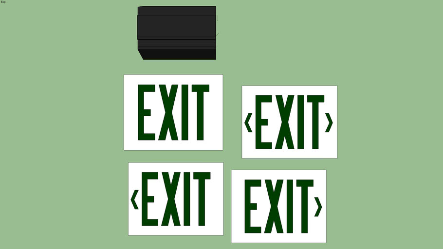 Lithonia Lighting Signature Series  Exit Sign (Green/Black)